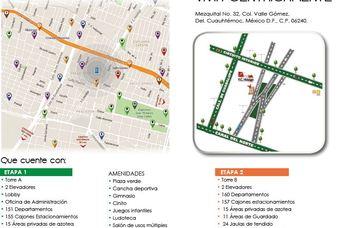 Plano de Departamentos en Cima DF en la delegación Cuahutemoc