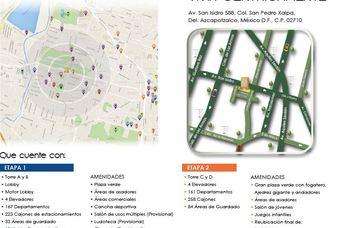 Plano de departamentos en Cima DF-San Isidro en Azcapotzalco