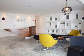 Bonita sala de espera  en departamentos en Cuajimalpa de  Ettorno Class