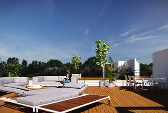 Exclusiva terraza en departamento de class en la ciudad de mexico