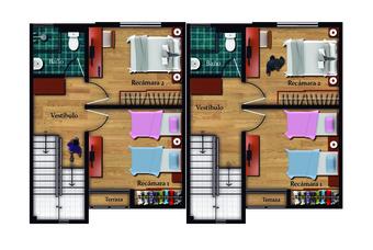 plano de casa en el centro de Pachuca de Paseos de la plata.
